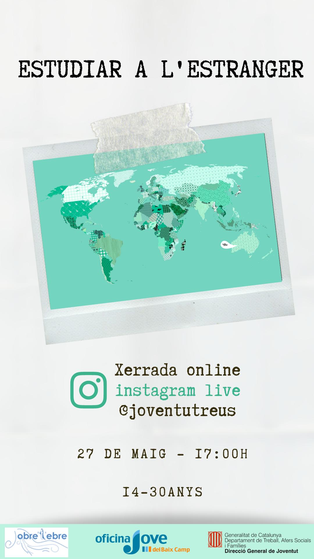 Estudiar a l'estranger - LIVE a l'INSTAGRAM de @JoventutReus