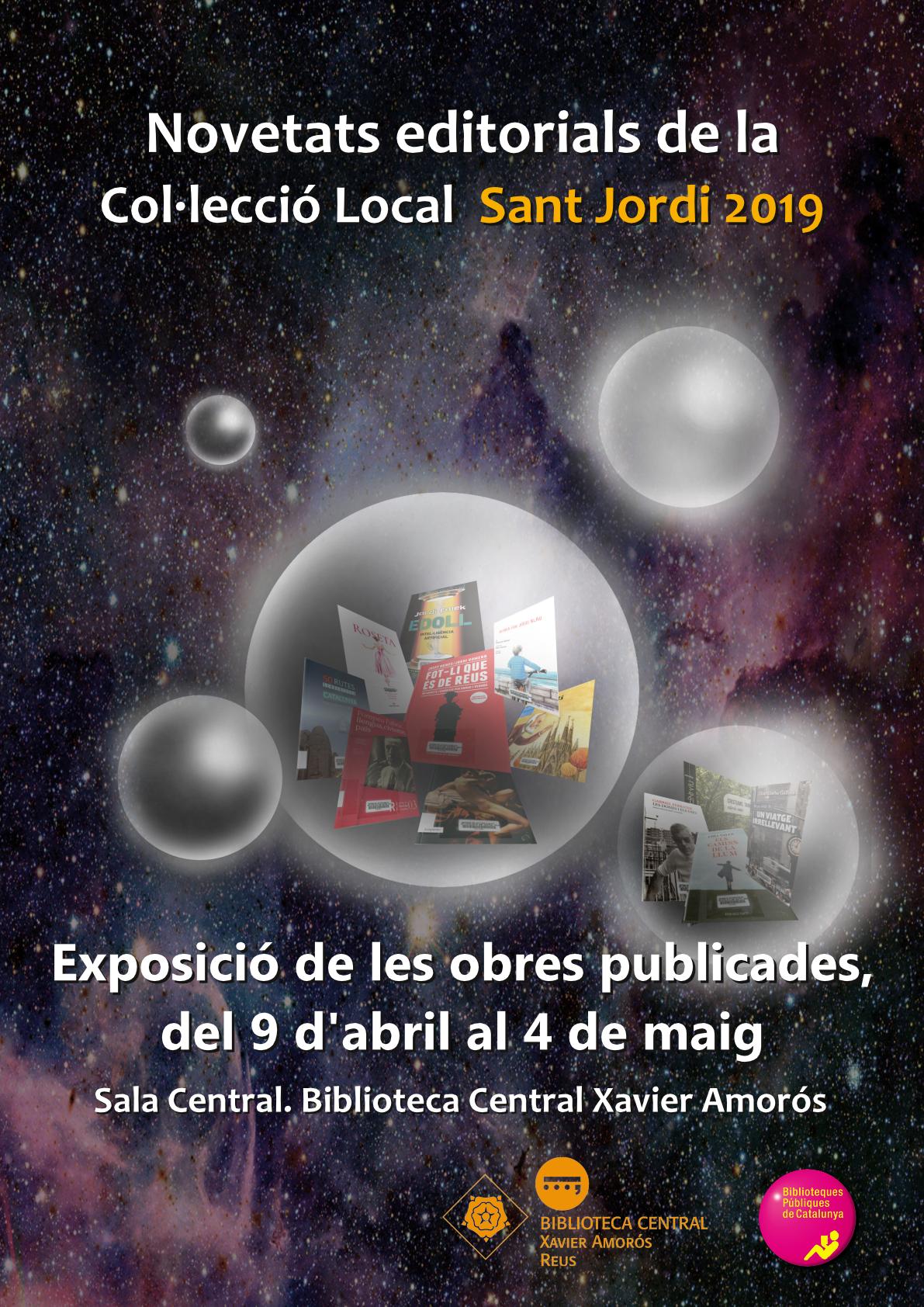 Exposició de les novetats editorials Sant Jordi 2019