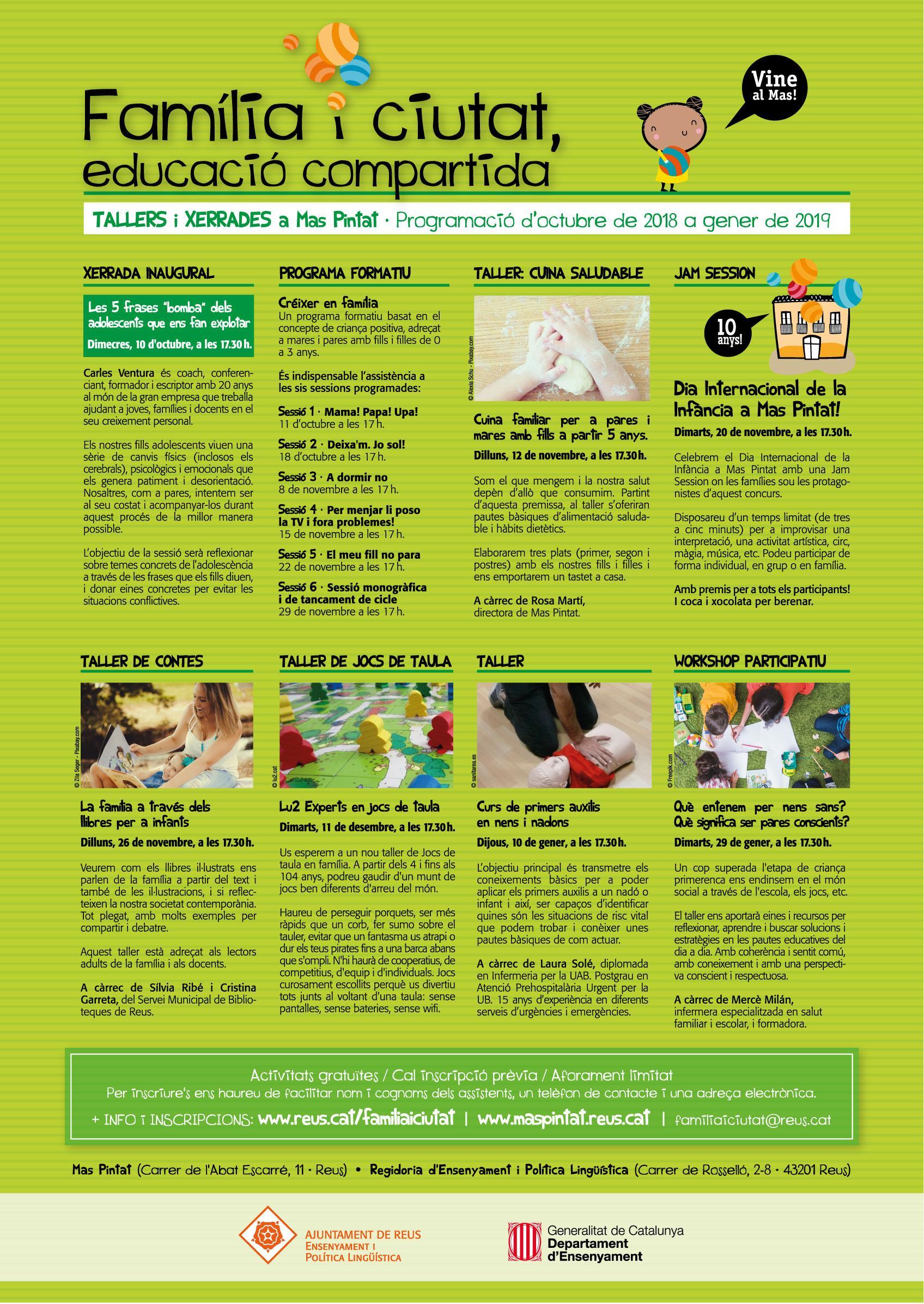 Programa Família i ciutat, educació compartida