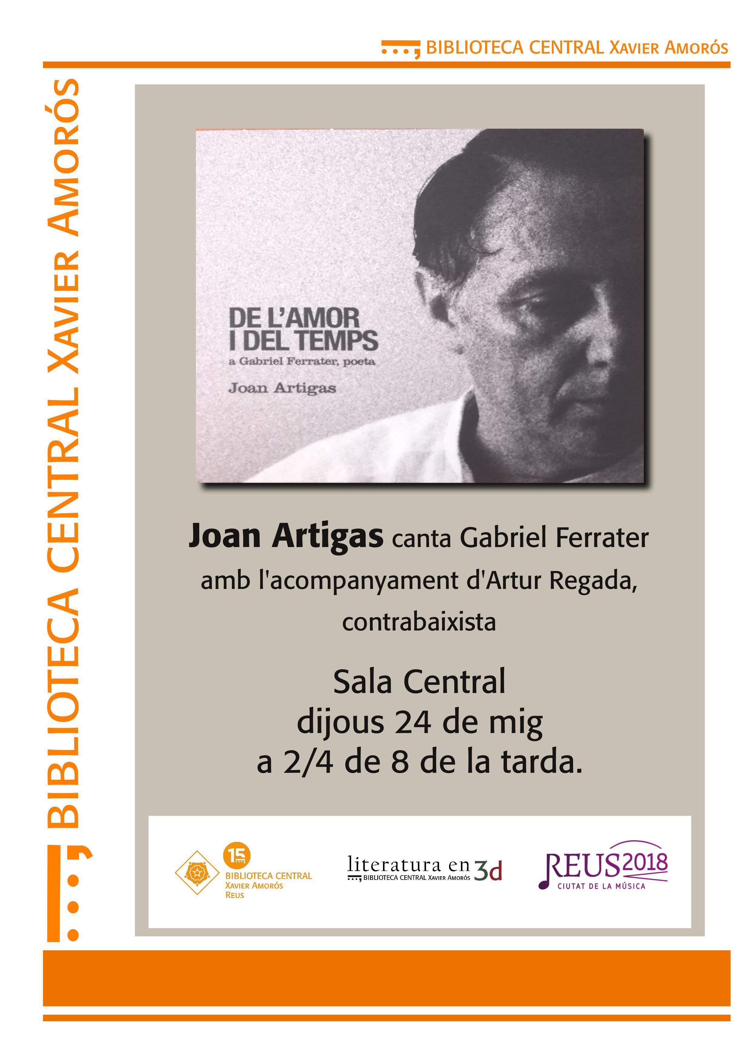 Joan Artiga canta Gabriel Ferrater