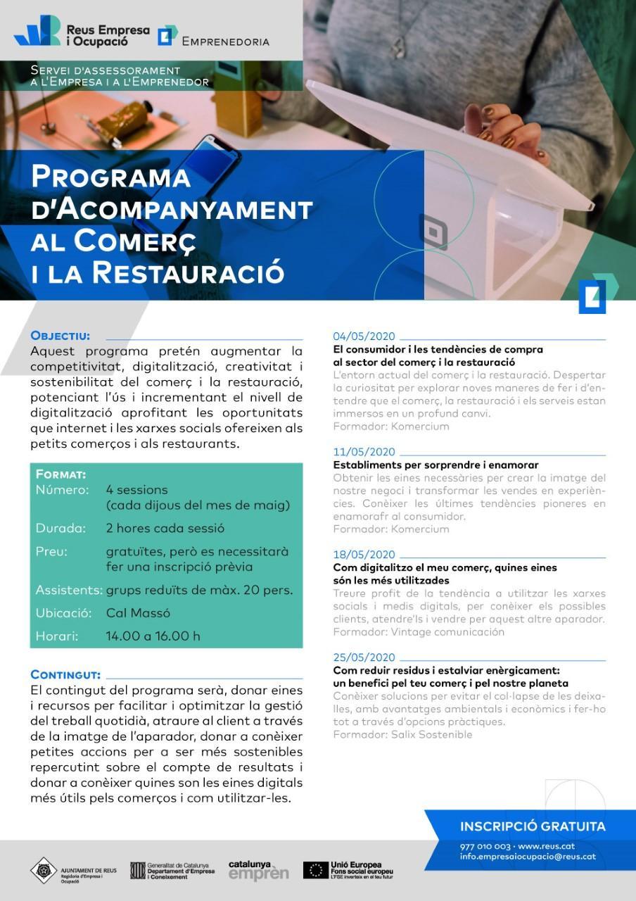 Programa d'acompanyament al comerç i la restauració E
