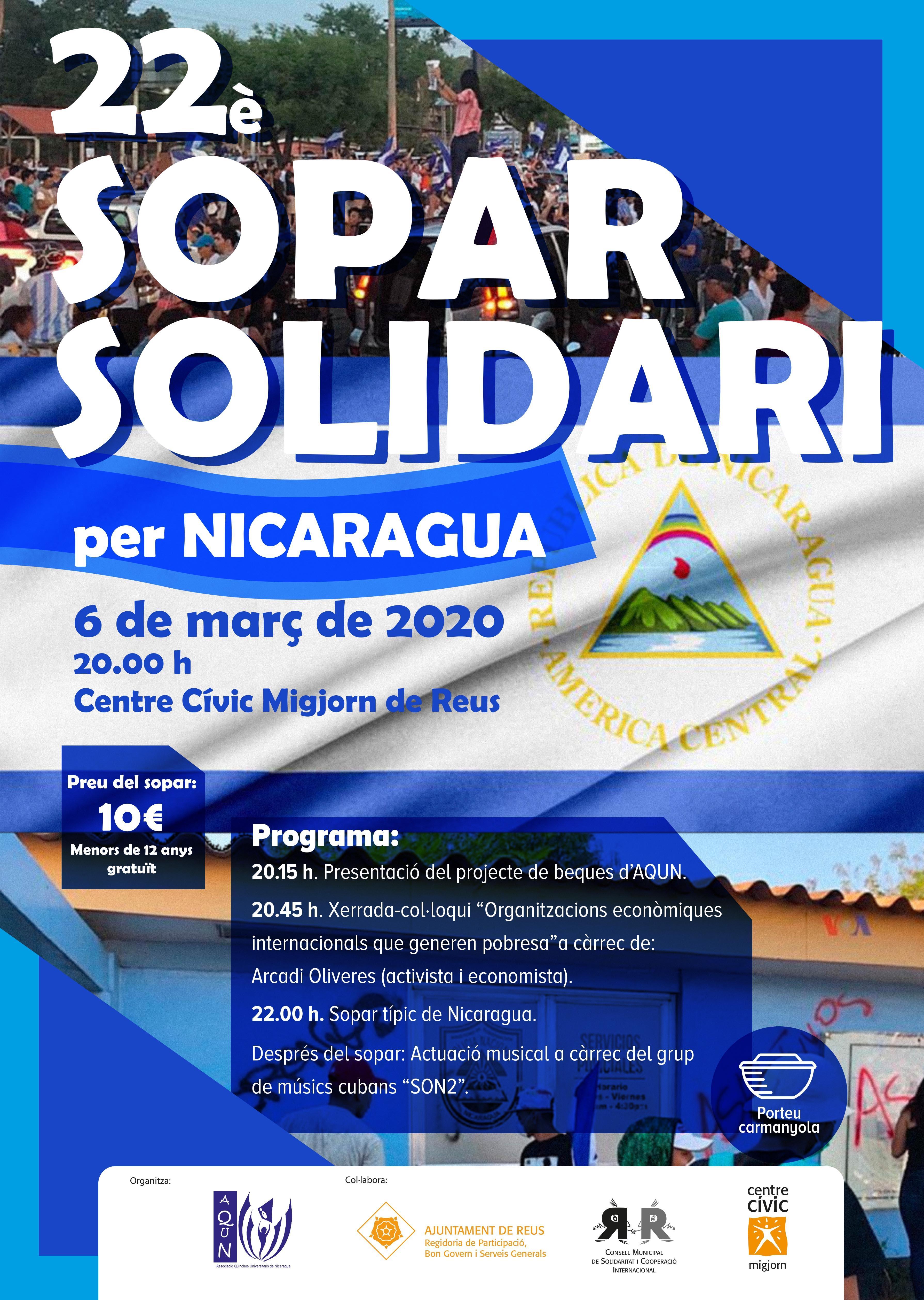 22è Sopar Solidari per NicaraguaE