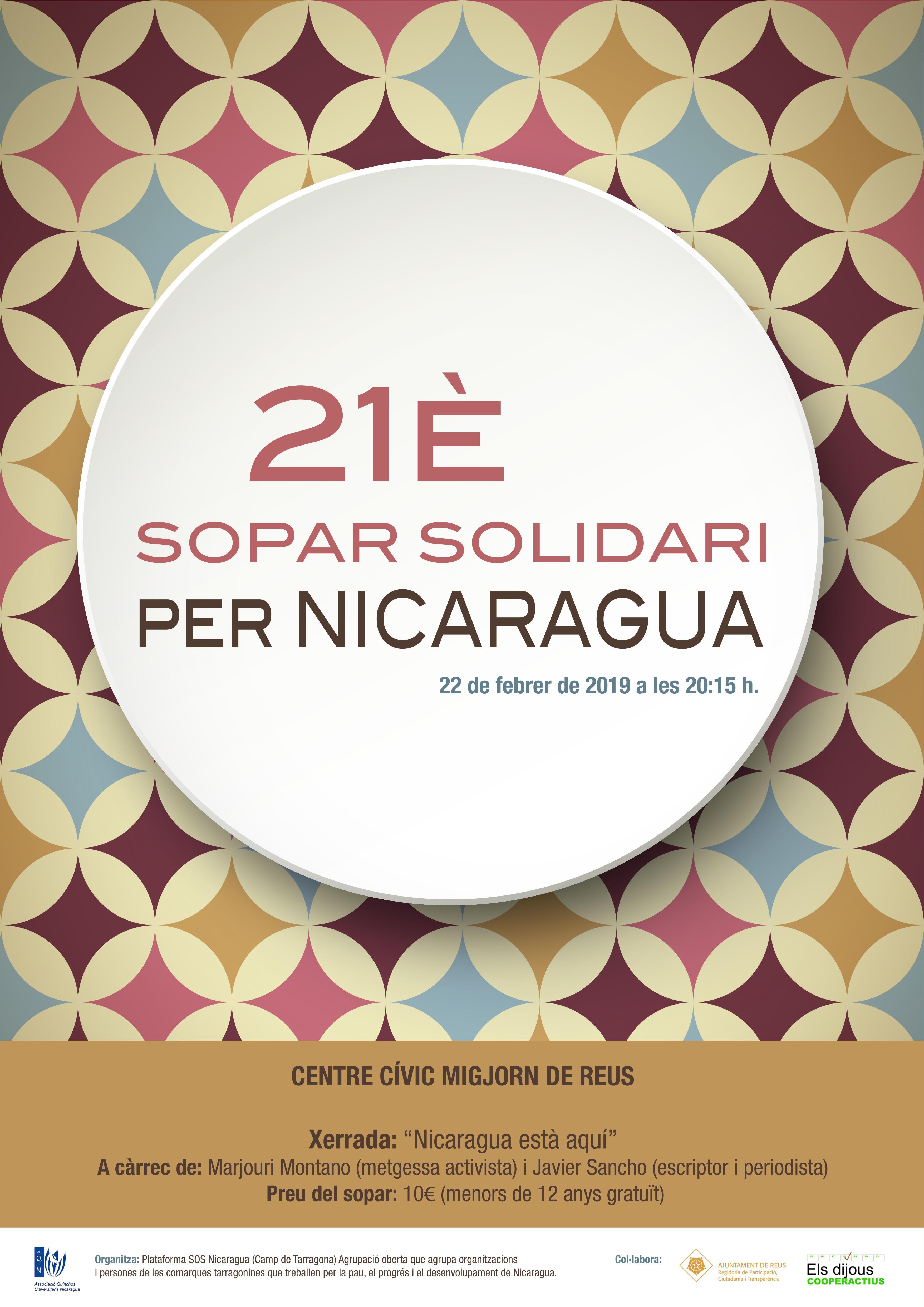 21è Sopar Solidari per Nicaragua