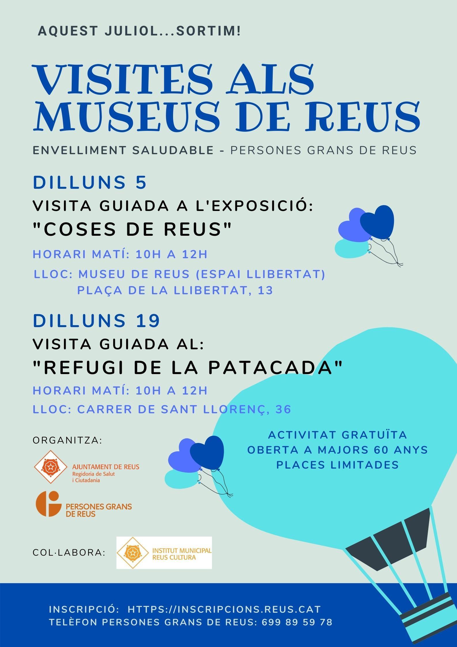 VISITES ALS MUSEUS DE REUS. ADREÇAT A PERSONES GRANS DE REUS