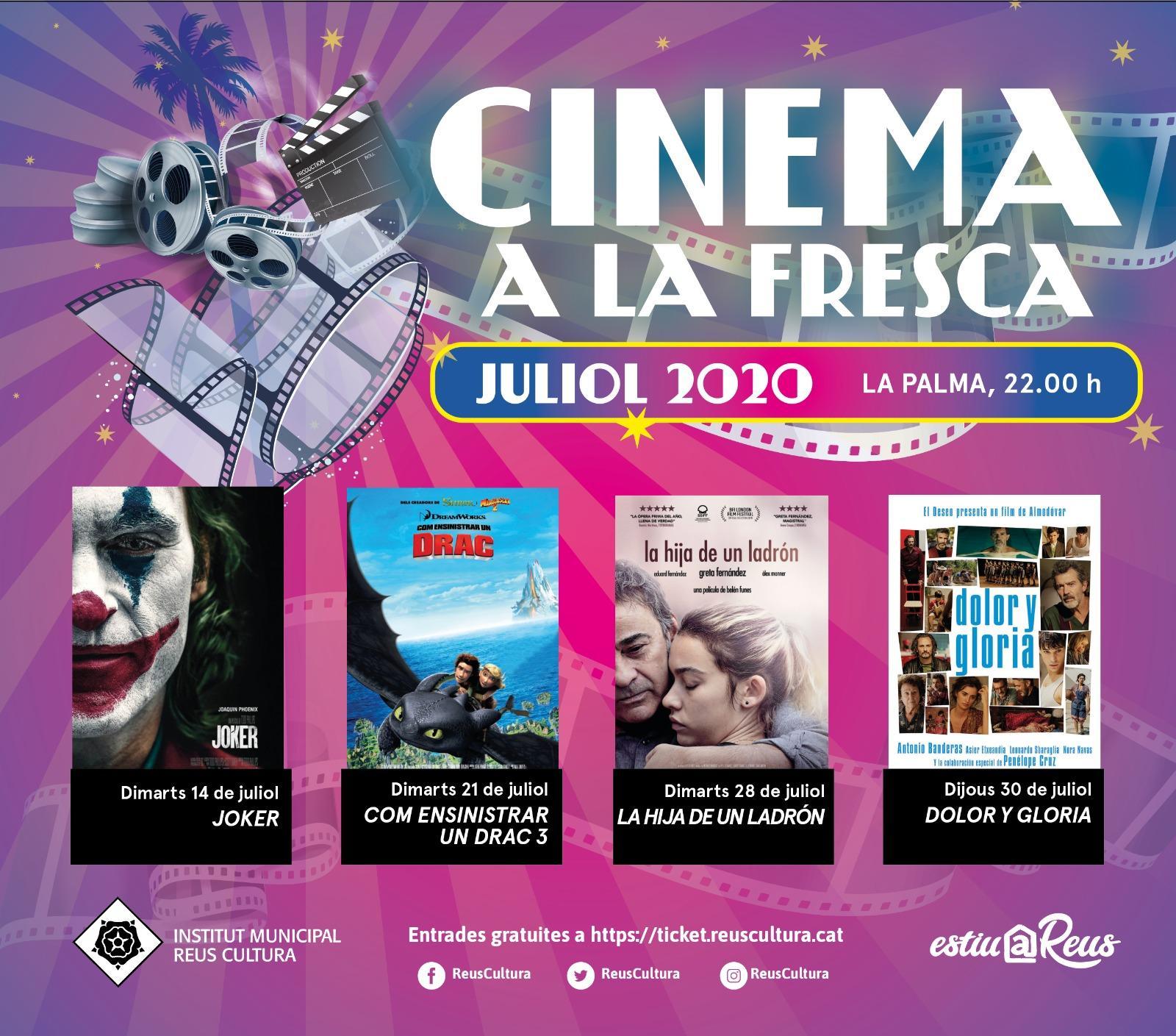 Cinema a la fresca (14, 21, 28 i 30 de juliol) - La Palma