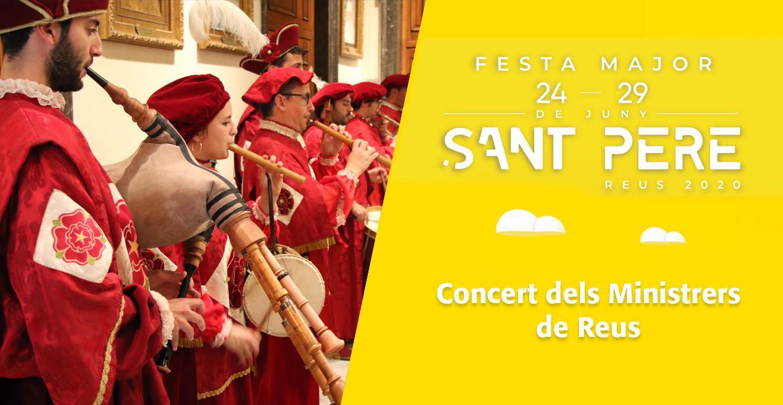 Sant Pere 2020: Concert dels Ministrers de Reus, des de la Galeria de Fills Il·lustres i com a preàmbul del pregó