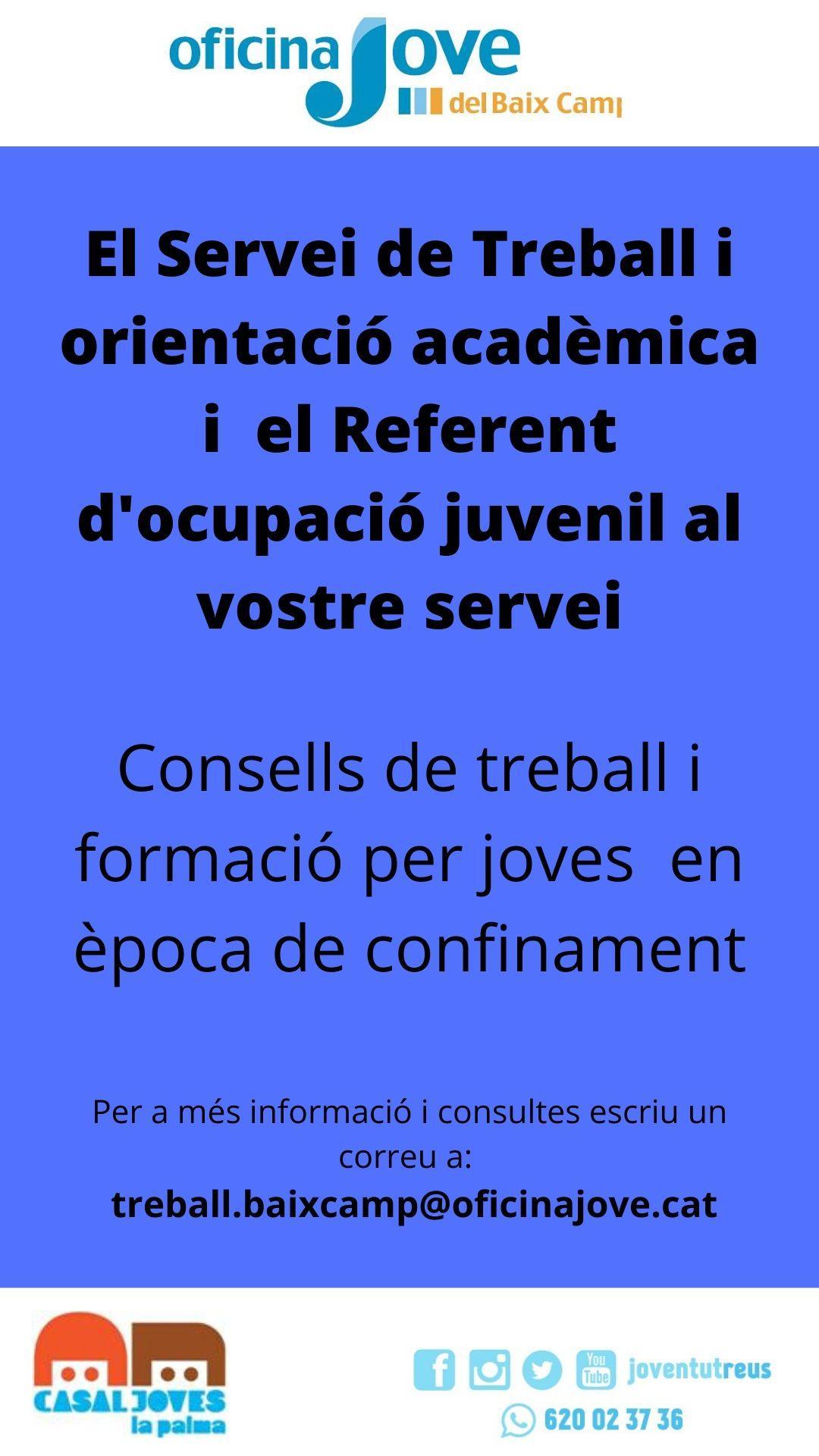 Consells de treball i formació per a joves en època de confinament 26/05/2020