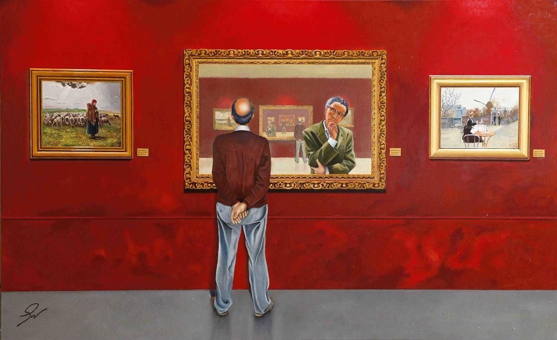 Inauguració de l'exposició «Mirada onírica, olis sobre tela»E