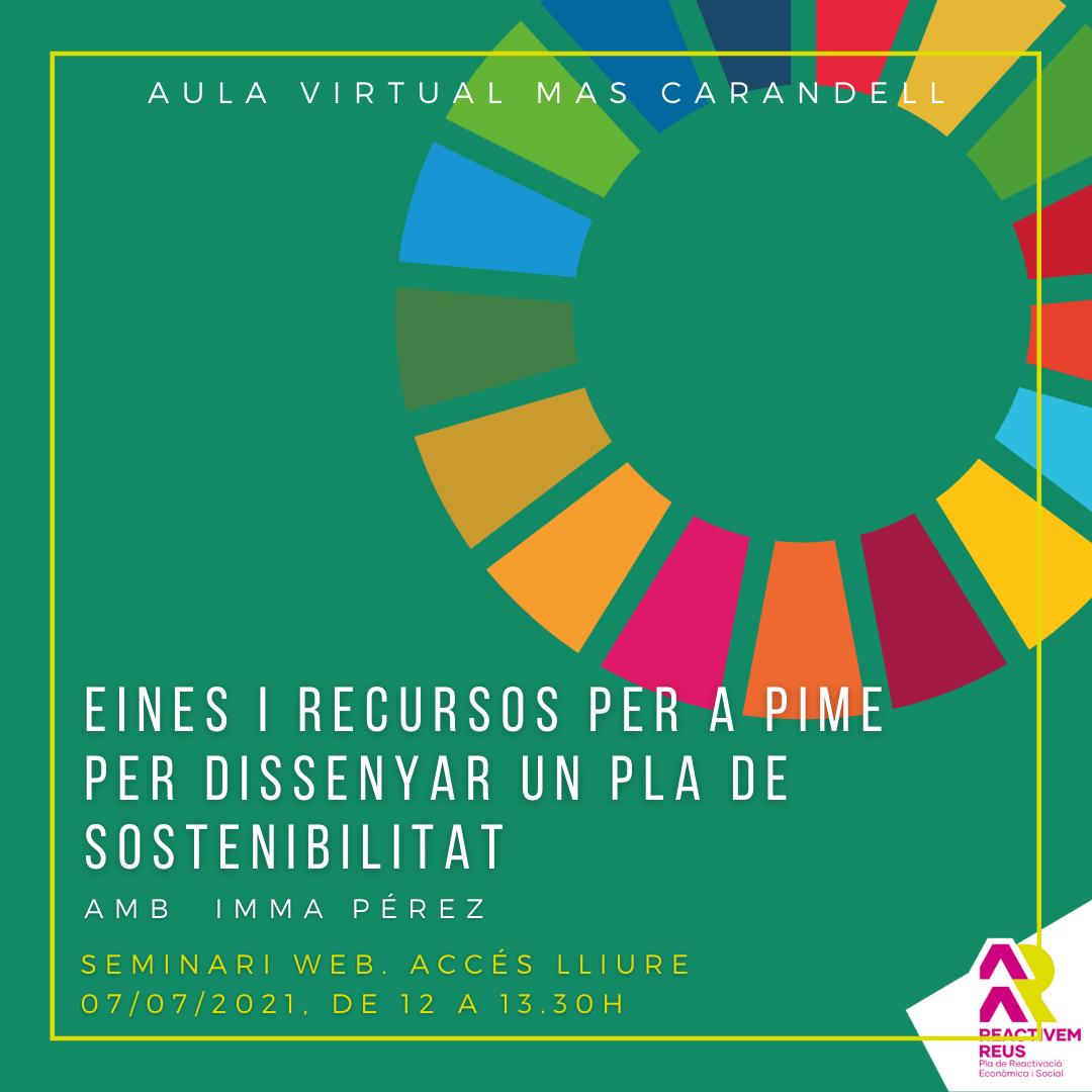 Seminari web: Eines i recursos per a PIME per dissenyar un pla de sostenibilitat