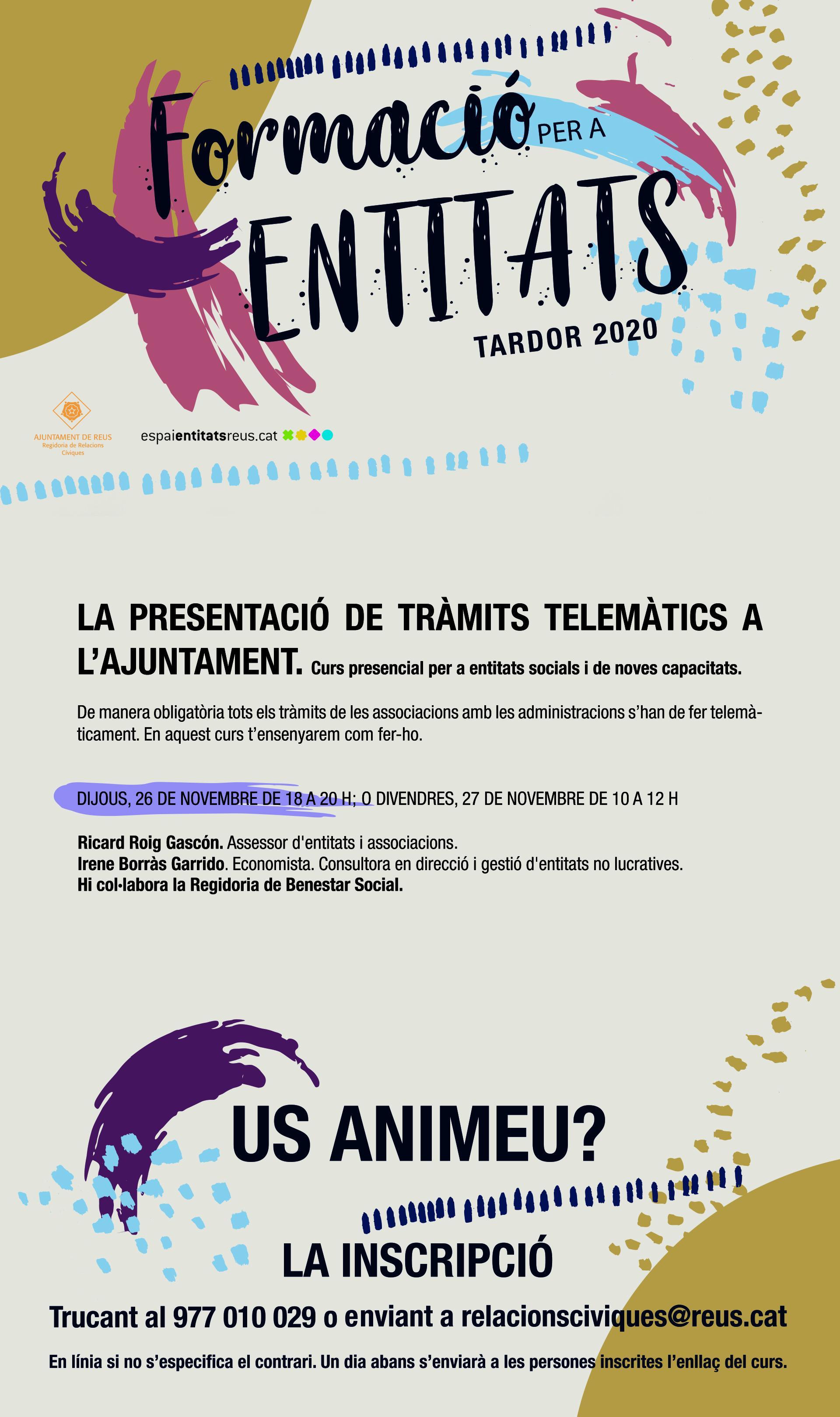 LA PRESENTACIÓ DE TRÀMITS TELEMÀTICS A L'AJUNTAMENT