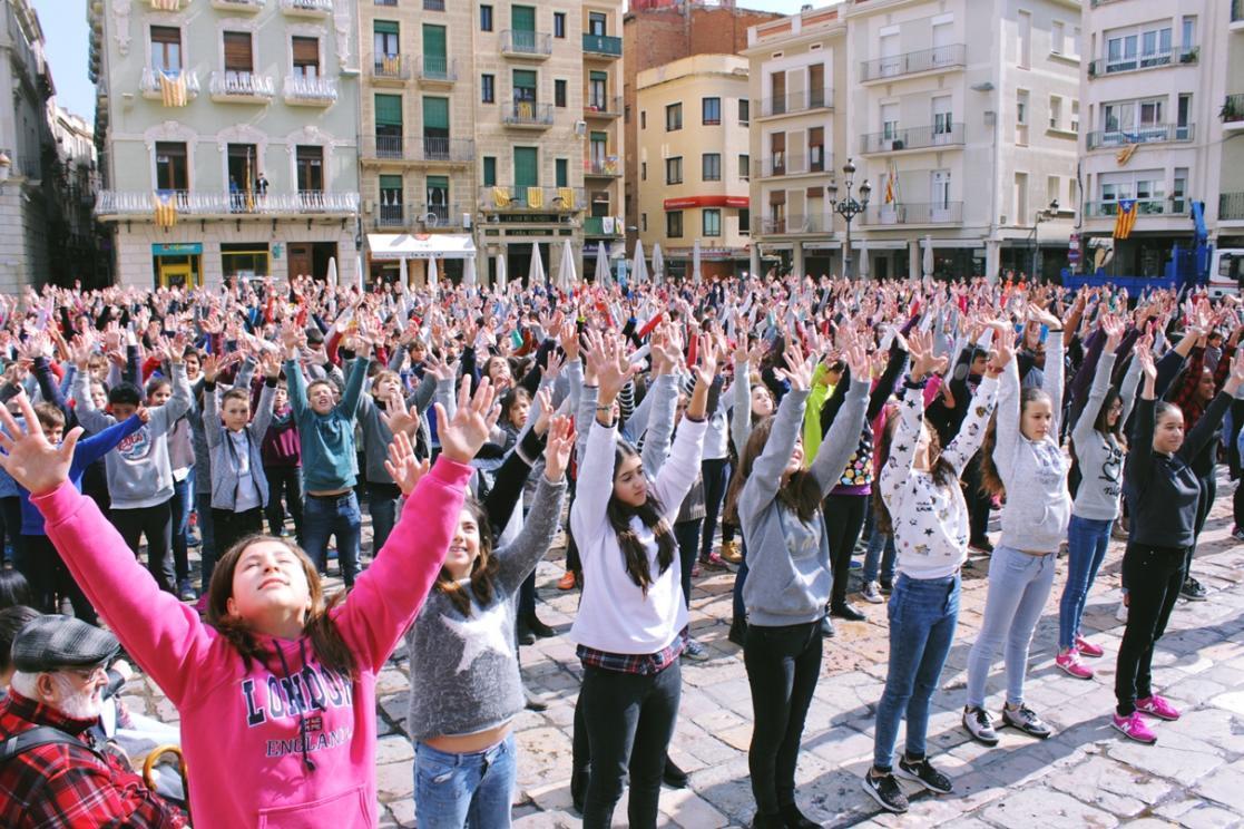 Flashmob del Centre de Lectura i Reus Deportiu
