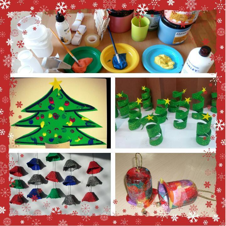 Taller de decoració nadalenca, avis i nets