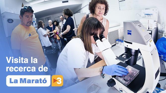 Visita la recerca de La Marató de TV3. L'institut Pere Virgili