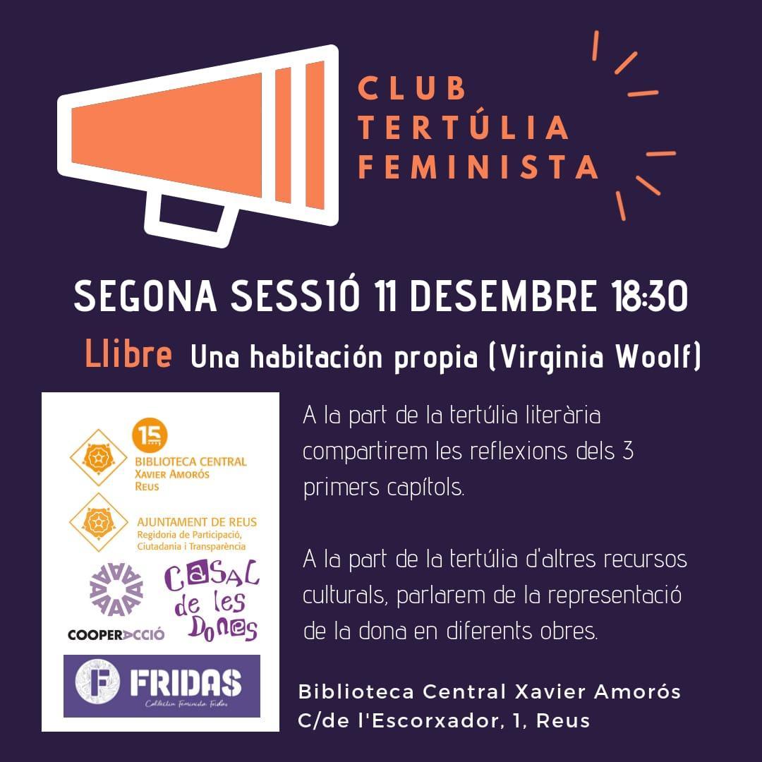 Club de lectura. Tertúlia de textos feministes