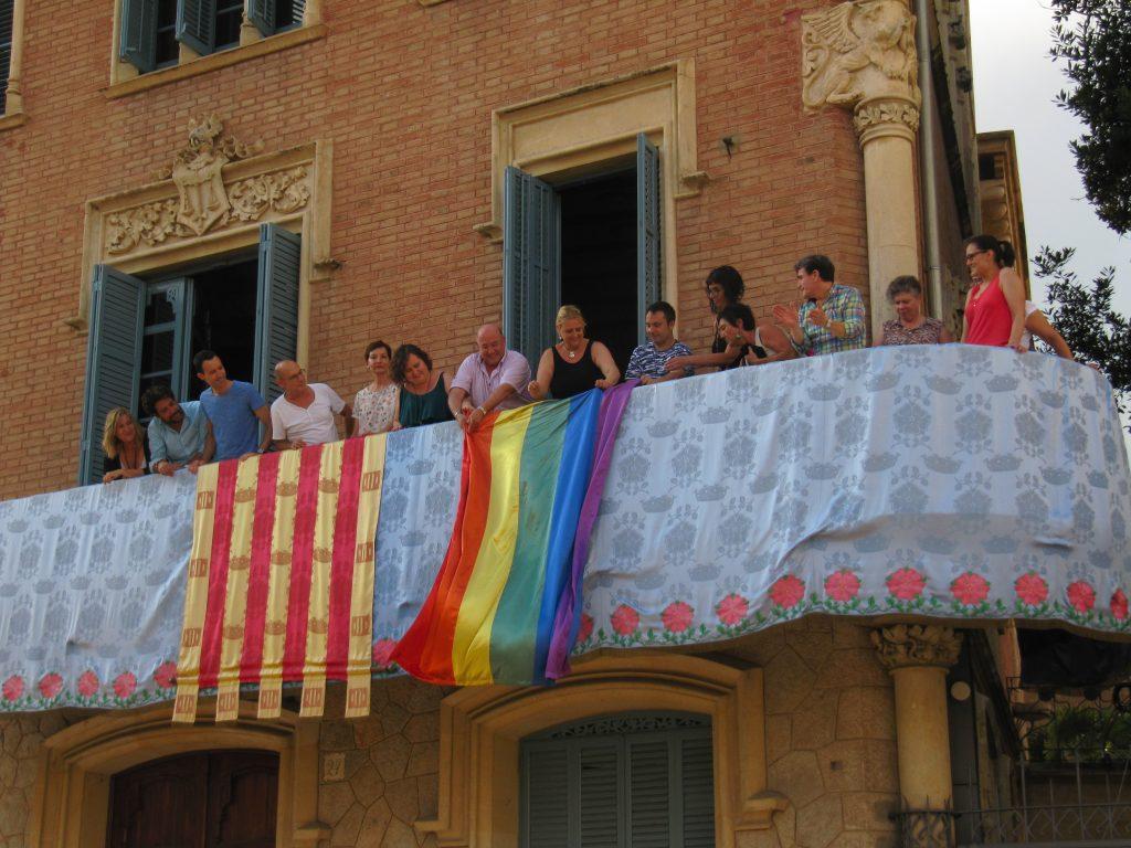 Penjada de la bandera de l'arc de Sant Martí