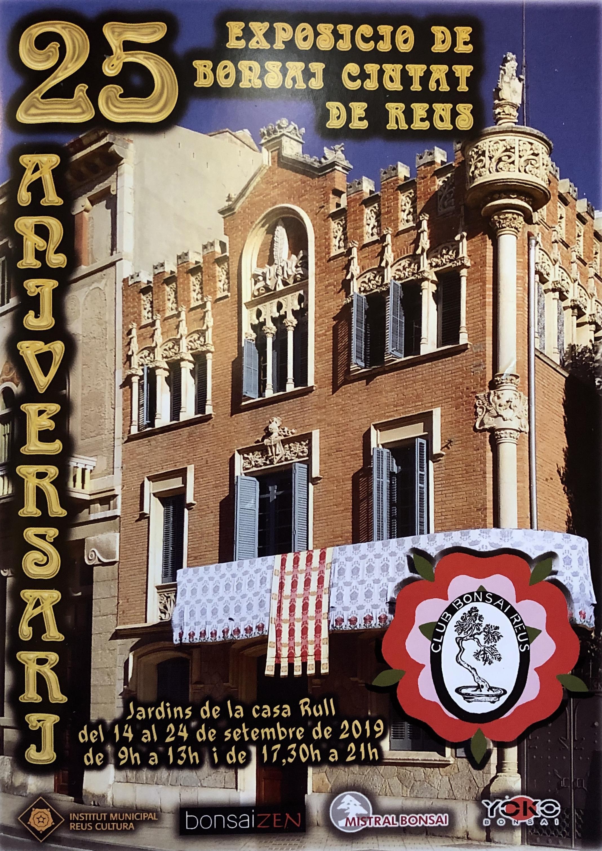 Lliurament de records a expositors i col·laboradors de la XXV Exposició de Bonsais Ciutat de Reus