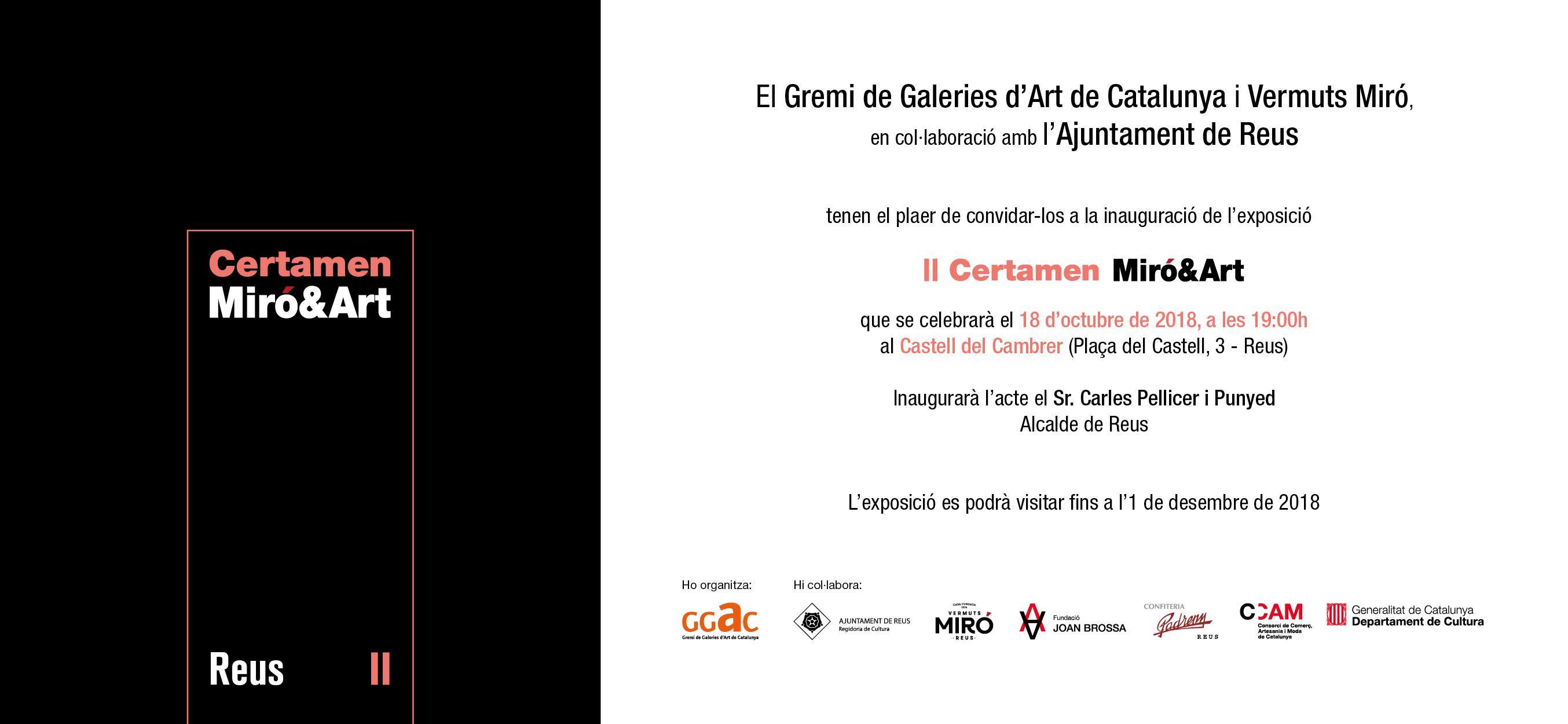 Inauguració del II Certamen Miró&Art
