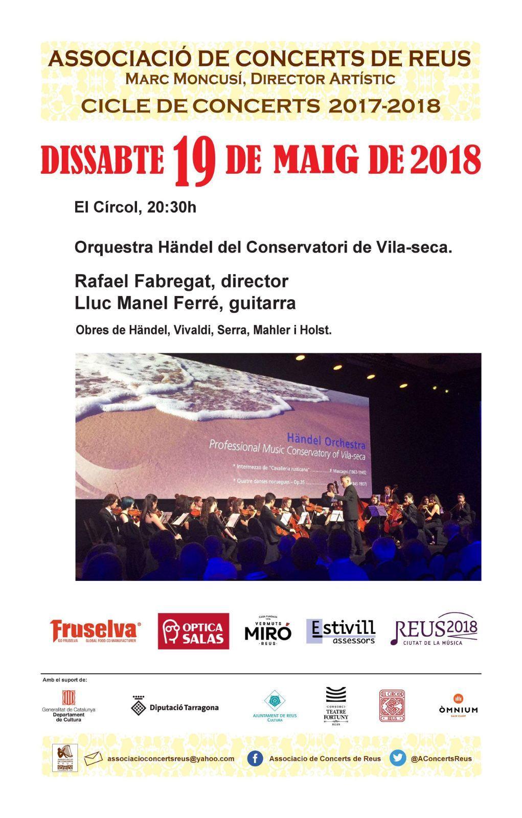 Concert de l'Orquestra Händel del Conservatori de Vila-seca