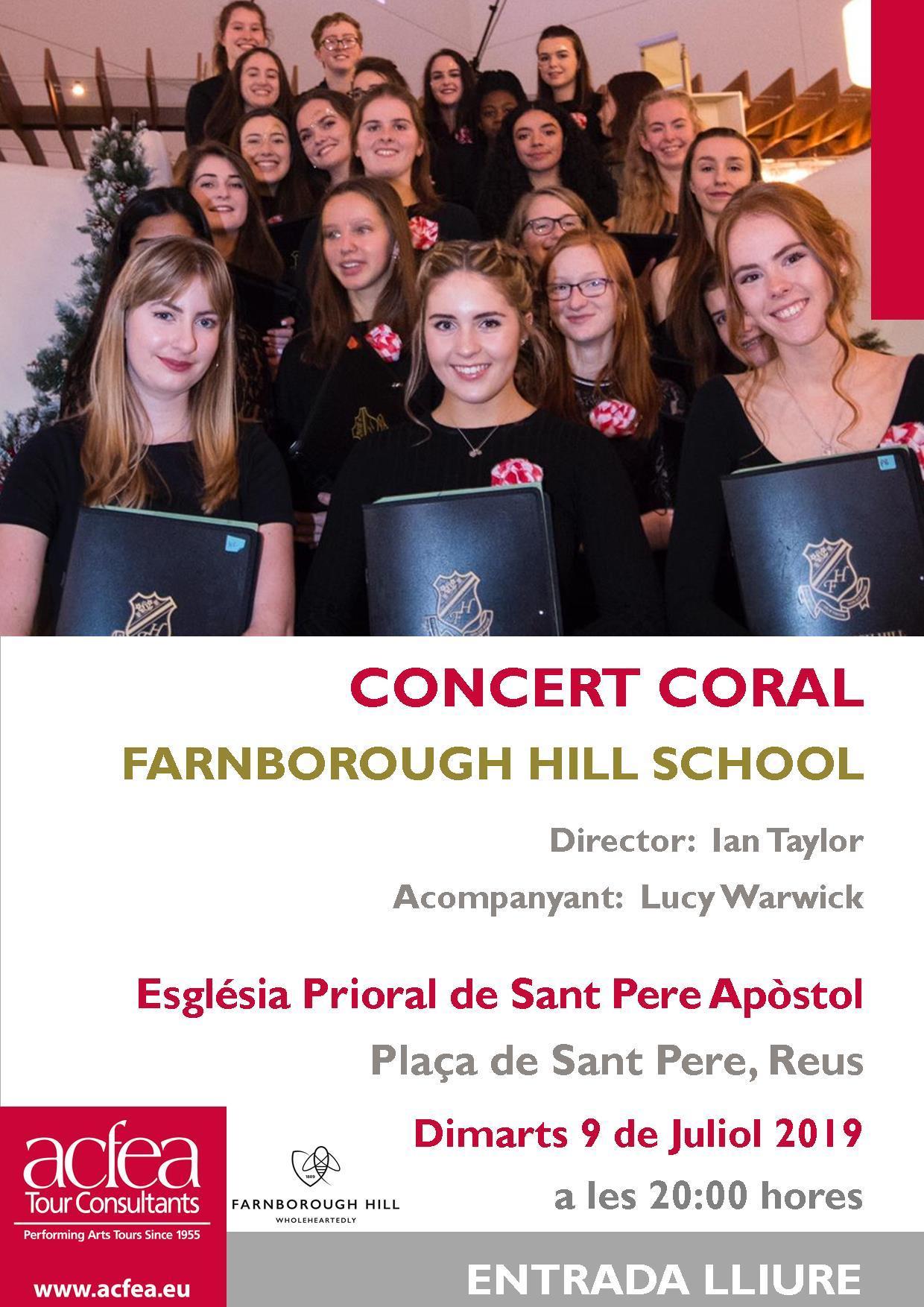Concert de la Coral de la Farnborough Hill School del Regne Unit