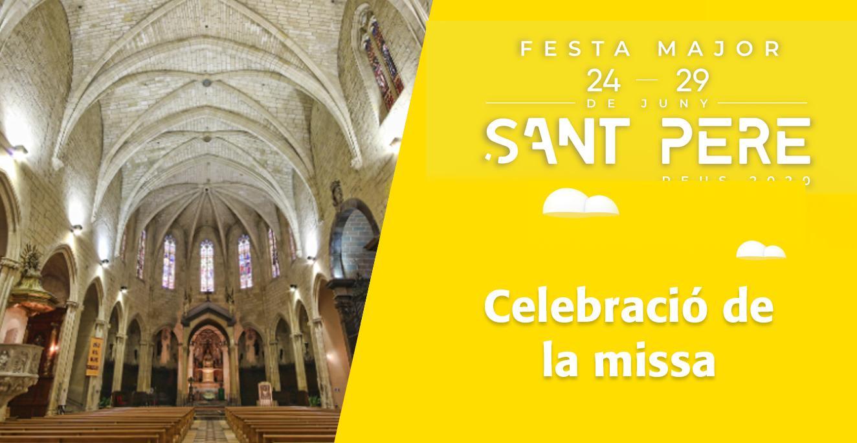 Sant Pere 2020: A la Prioral de Sant Pere, celebració de la missa.