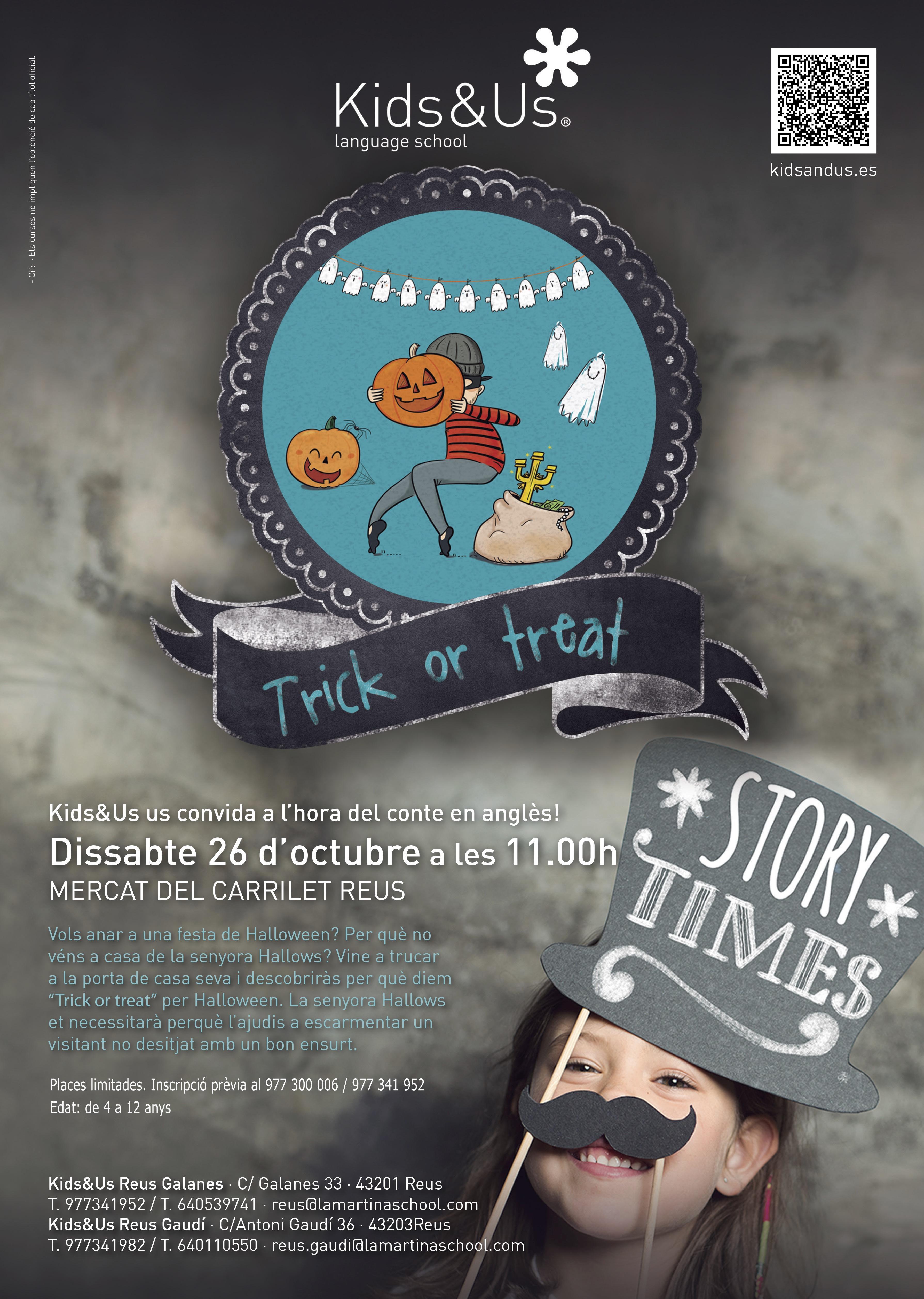 «Trick or treat» al Mercat del Carrilet amb La Martina Kids&Us School