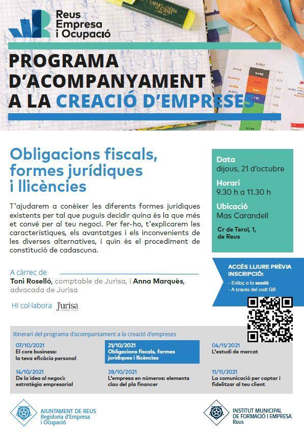 Obligacions fiscals, formes jurídiques i llicències