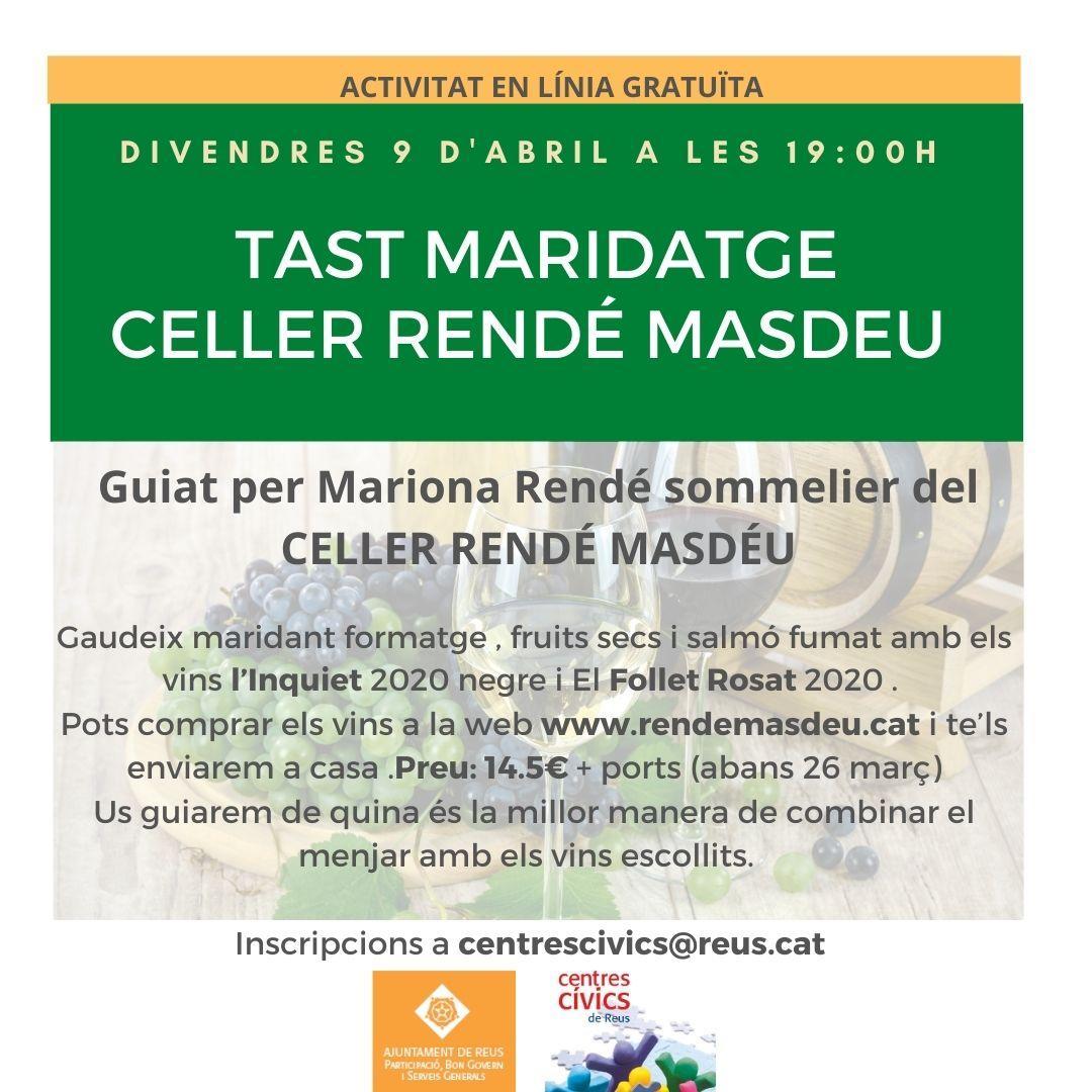 TAST MARIDATGE CELLER RENDÉ MASDÉU