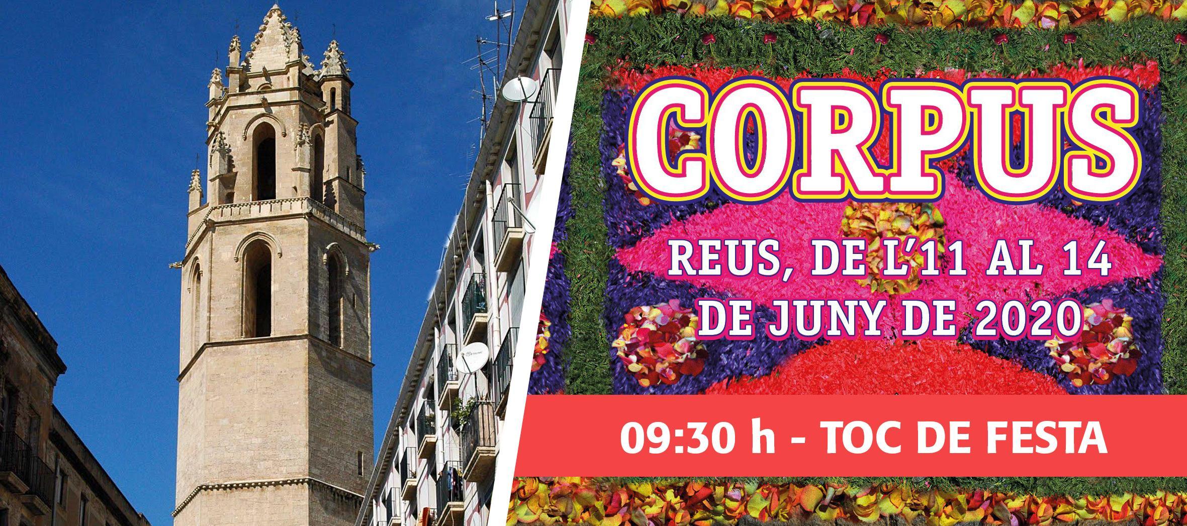 Corpus 2020: des del campanar, Toc de Festa