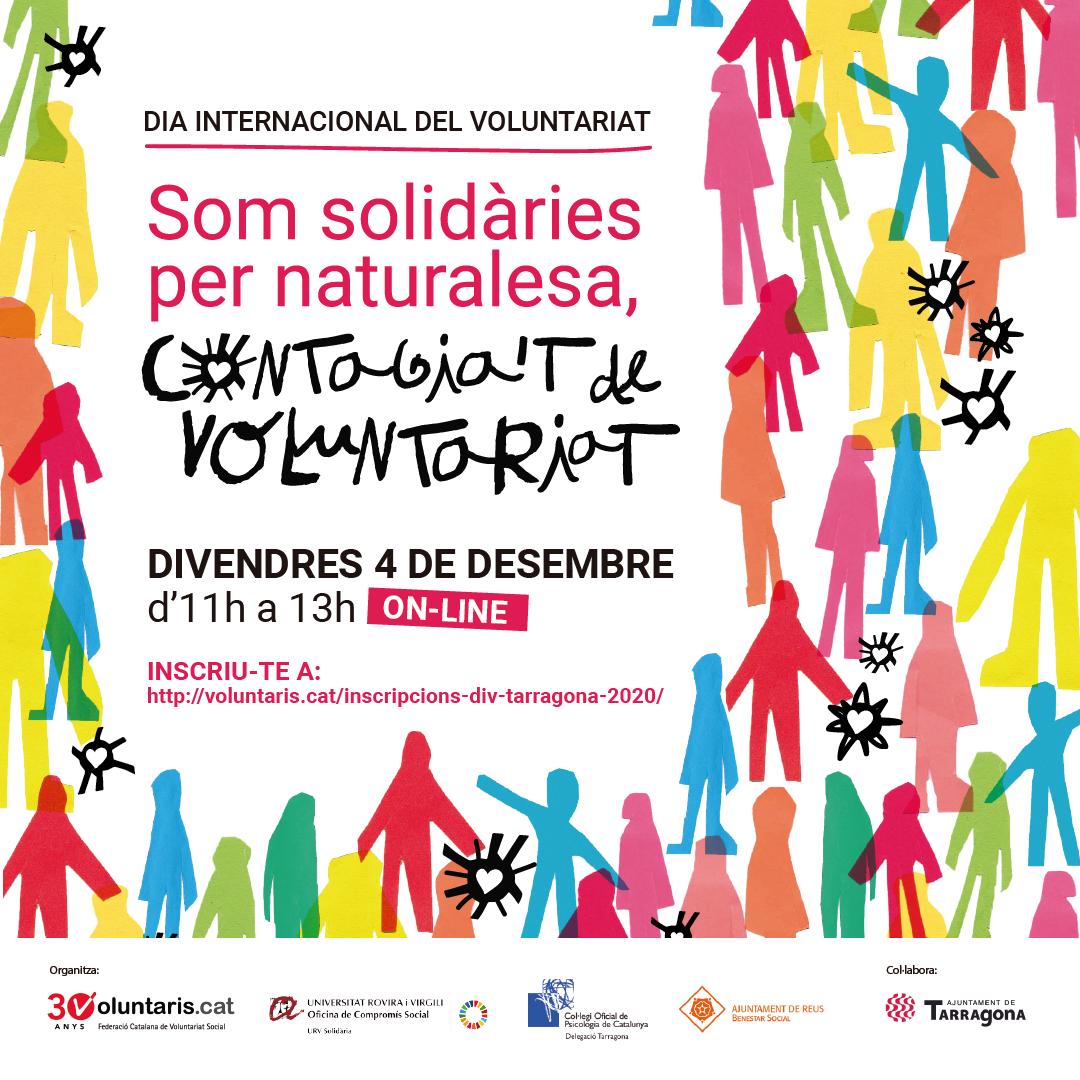Acte en línia i interactiu amb motiu del Dia Internacional del Voluntariat