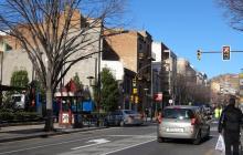Accés al centre des de la riera Miró pel carrer del Roser