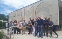 Fotografia del grup de l'Arxiu que va a anar a visitar el CRBMC