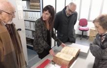 Visita a le sinstal·lacions de l'Arxiu