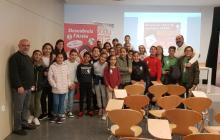 Visita dels alumnes de 6è de l'escola Rosa Sensat