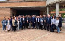 Alguns dels participants del Congrés, amb el MH President de la Generalitat i el President de l'AAC-GD