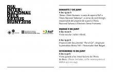 Programació dels actes previstos en commemoració del Dia Internacional dels Arxius