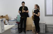 Dos membres de la Banda Simfònica de Reus ens han acompanyat en la visita
