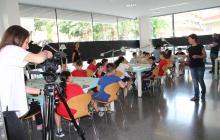 Alumnes de l'escola Rubió i Ors