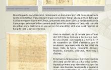 Plafó explicatiu de la documentació que custodia l'Arxiu sobre la Comuna del Camp