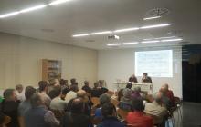 Nombrós públic va assistir a la conferència d'Ezequiel Gort