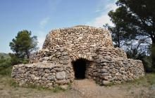Imatge d'una barraca de pedra seca a Mont-roig del Camp