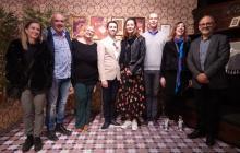 El jurat el premi ha visitat l'exposició Roseta Mauri