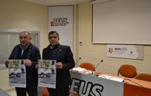 El representant de la Federació Catalana de Patinatge, Rafel Serrano (esquerra), i el regidor d'Esports, Jordi Cervera.