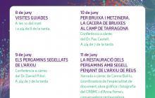 Cartell activitats Arxiu Municipal de Reus