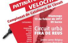Cartell del Campionat de Catalunya de Patinatge de Velocitat Reus 2017