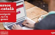 Cartell inscripció als cursos de català del CNL