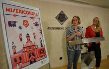 Imatge de la presentació del cartell de les Festes de Misericòrdia amb Montserrat Caelles i Marina Sans