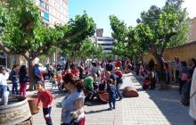 Imatge d'arxiu d'una edició passada del Dia Internacional de les Famílies a la plaça de l'Abat Oliba