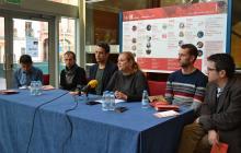 Imatge de la conferència de premsa de presentació de la nova programació del Teatre Bartrina