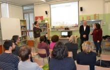 Imatge de la presentació a l'Escola La Vitxeta