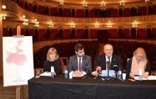 Roda de premsa de presentació de l'Any Roseta Mauri a l'escenari del Teatre Fortuny